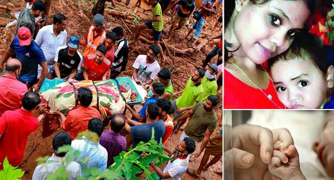 Mother held infant son's hand tight even in death in flood hit Kerala-national news kannada