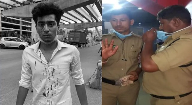 Hyderabad cops assault man for distributing food to needy