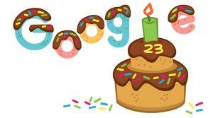 Google celebrating its 23rd anniversary